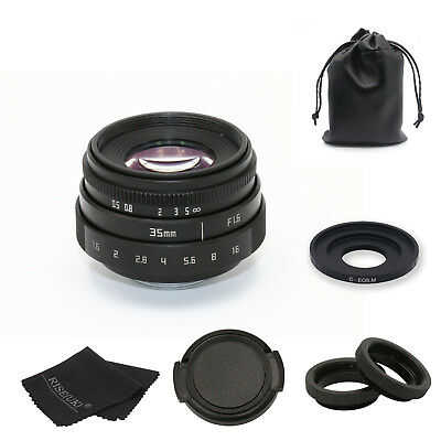 FUJIAN 35mm f1.6 C mount CCTV Lens II+C Mount for Canon EOS M EF-M Mirrorless