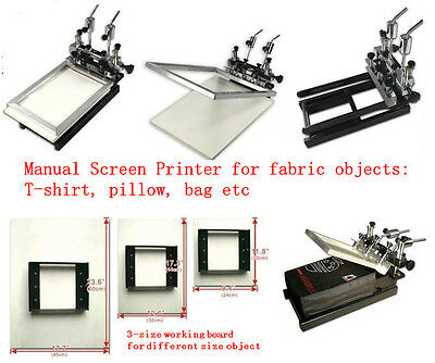 Manual Screen Printing Machine for Fabric Object: t-shirt, pillow, bag etc.