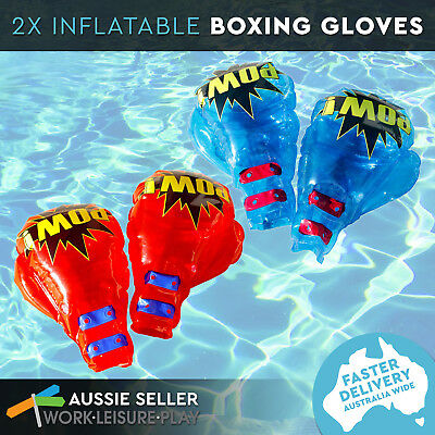 Airtime Inflatable Boxing Glove Combo Pool Water Toy 2 pairs of gloves red and b
