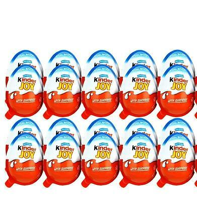 96 Kinder JOY Surprise Eggs, Ferrero Choclate & Gift Toys, for BOYS. Yss