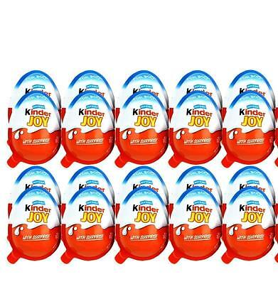 10 Kinder JOY Surprise Eggs, Ferrero Choclate & Gift Toys, for BOYS. YBB