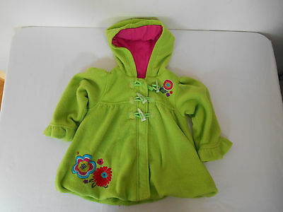 M&S Marks and Spencer Autograph Girl's Lined Green Duffle Coat Size 2/3 yrs