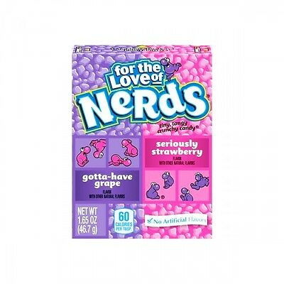 2 x USA NERDS GRAPE & STRAWBERRY Candy