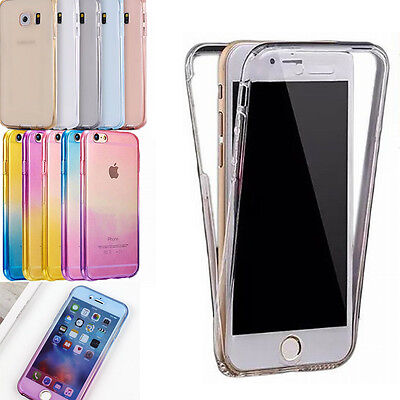 360° Coque Housse Etui TPU Silicone Full Protection Case Cover Pour Apple iPhone