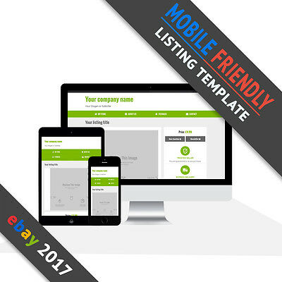 Ebay Listing Template 2017   Mobile Friendly Auction   Responsive   Green