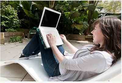 Unbreakable Laptop Notebook Stand with Mouse Pad- Lightweight Knee Suspended
