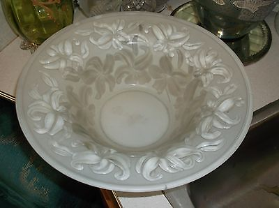 Phoenix consolidated glass blown out waterlily bowl