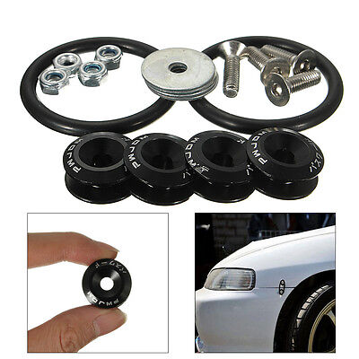 Quick Release Fasteners For Car Bumpers Trunk Hatch Lids Fixed Button Kit Black