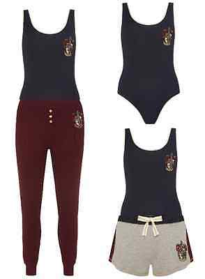 Harry Potter Women's Body Suit Hogwarts Pyjamas Set Primark Ladies Pajamas New