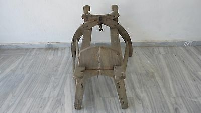 Greek Folk Art, Antique Donkey Saddle
