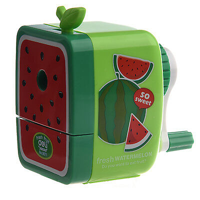 K9 Watermelon Pencil Sharpener Hand Crank Manual Desktop School Stationery Kids