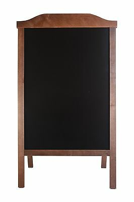Wooden A-Board, Pavement Sign, Sandwich, Black Board Stand Engrave Chalk Code Ro