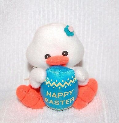 """Vintage Plush Chick with Happy Easter Egg by Easter Pets 4"""" Tall"""