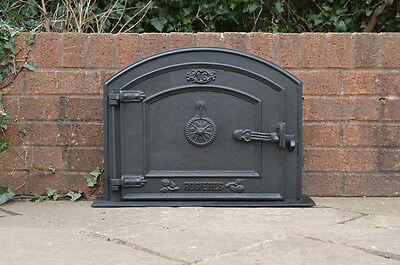 58.5 x 43 cm cast iron fire door clay bread oven doors pizza stove smoke house