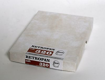 Foma Retropan Soft 320 Black And White Film 5x7 Inches, 50 sheets