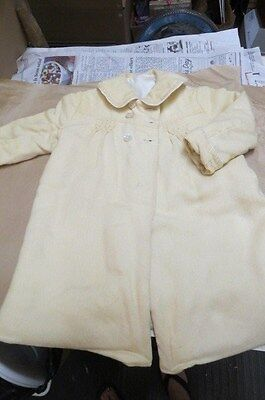 Antique, Vintage Wool child's coat. smocked. lined with cotton.