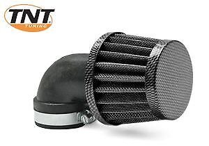 Vespa Universal TNT K&N Small Carbon Air Filter - 28-35mm - 90 Degree