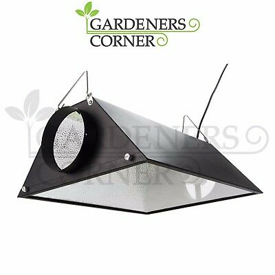 "Hydroponics 6"" Inch 150mm Coolshade Air Cooled Reflector Shade indoor Grow UK"