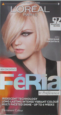 L'Oreal Feria Iridescent Blonde 92 Hair Colour