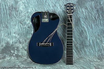 Journey OF660 Blue Carbon Fiber Collapsible Guitar Fits In Flight Compartment