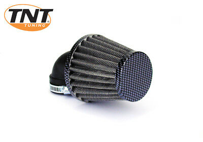 Scooter Moped Universal TNT K&N Air Filter - 28-35mm - 90 Degree - Carbon Look