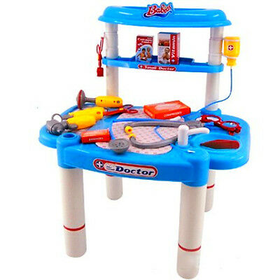 Kids Medical Doctor Play Set Toy Kit Hospital Pretend Station Stethoscope Deluxe