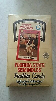 Florida State Seminoles Trading Cards Unopened Box Of Cards