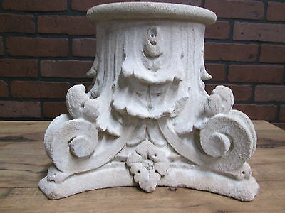 "Antique Turn of the Century Hand Carved Limestone Garden Capital 15"" by 12"""