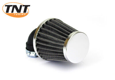 Yamaha Universal TNT K&N Air Filter - 28-35mm - 90 Degree - Chrome