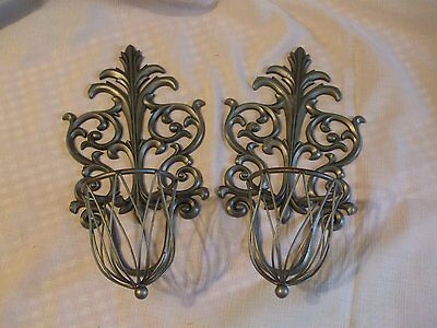 Sconces, a pair