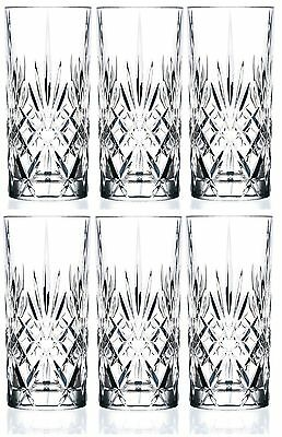6 x RCR Melodia Crystal Hi-Ball Tumblers High Ball Glass - 25766020006