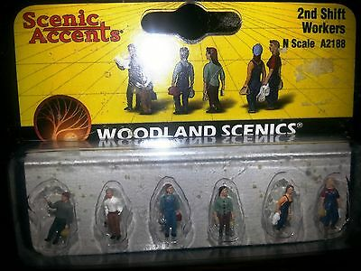 Scenic Accents / Woodland Scenics 2nd Shift Workers A2188