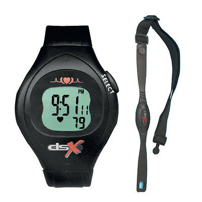 Heart Rate Monitor Watch & Chest Strap Running/Cycling/Gym Waterproof (DSX)