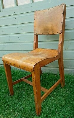 Industrial Vintage Restaurant Wooden Stacking Ply School Chair old original wood