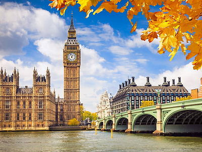 London Westminster Palace Big Ben Great Britain Huge Giant Wall Print POSTER
