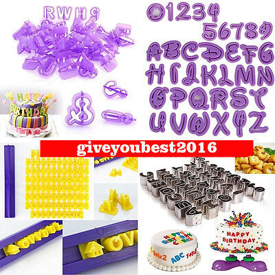 Alphabet Number Letter Cake Decorating Mould Fondant Sugarcraft Modelling Cutter
