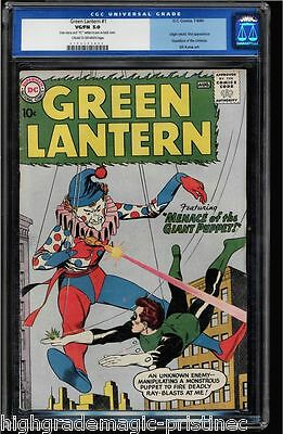 Green Lantern #1 Cgc 5.0 1St Silver Age Green Lantern In Own Title Old Label