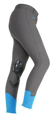 NEW Shires Ladies Womens Islington Sport Fabric Riding Breeches Suede Gel Knees