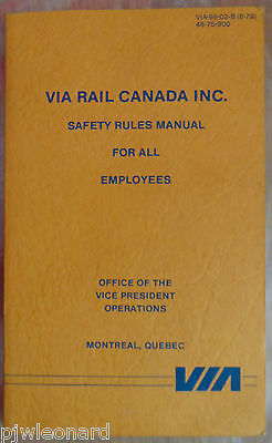 VIA RAIL - Safety Rules Manual for All Employees