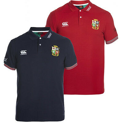 Canterbury British & Irish Lions 2017 Mens Cotton Training Rugby Polo Shirt
