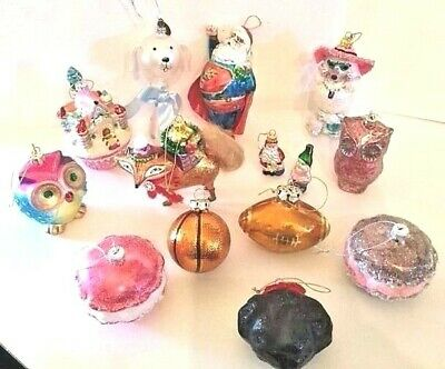 Robert Stanley Glass Christmas Ornaments Pick Choose Pre Owned
