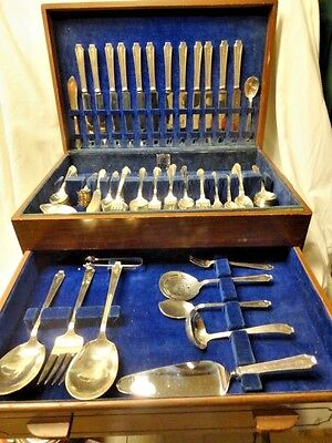 "1847 Rogers Bros Silverplate 1900-1940 LEGACY ""C"" Surname Mixed Lots Utensils"