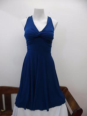 Dance Costume Small Adult Blue Tank Dress Lyrical Ballet Solo Competition