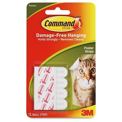 3M COMMAND 17024 | 12 Small Poster Strips | Removes Cleanly | Holds Strongly