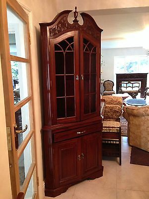 OPEN2OFFER 4 WKEND-Uniq-Grand Corner Cabinet-Solid Rosewood-French polished