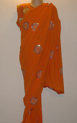 Children's Bollywood designer sarees with matching blouse for 2-6 years old girl