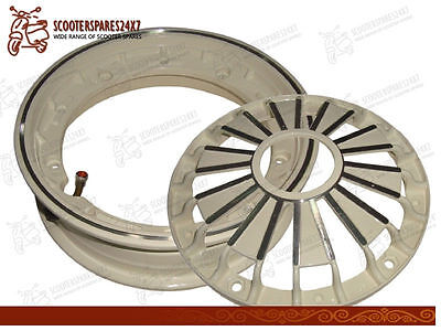 3 Pieces - Wheel Rim Tubeless Double Cream For Vespa Scooters