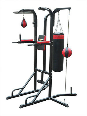New Power Boxing Station Stand Gym Speed Ball Punching Bag