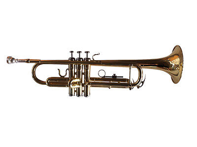 New Woodstock Trumpet Key Bb Gold-Lacquered with Case