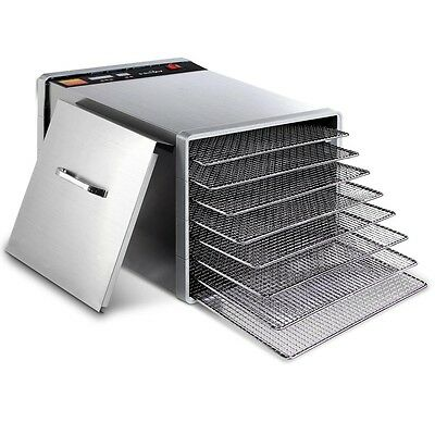 New Stainless Steel Food Dehydrator – 8 Trays